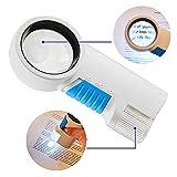 MYMGG Loupe 12X avec lumière LED Loupe de Poche Alimentation par Batterie Loupe grossissante Convient pour Lire la Recherche de réparation...