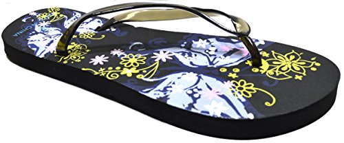 Octave® - Infradito da donna per l'estate e la spiaggia, diversi stili e colori Butterfly Design - Black