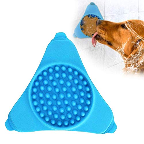 H-ONG Dog Slow Feeder Bowl Dog Bath Distraction Device Lick Pad Fun Interactive Feeder Slow Feeder Bowl Wall Mounted Slow Treater Suction Pad for Shower Pet Dog Bath Grooming Training Accessories (Mounted Devices Surface)