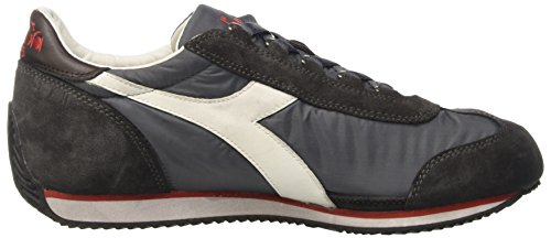 Diadora Equipe Nyl Sw Waxed, Scarpe da Ginnastica Unisex – Adulto Grigio (Castle Rock/Brown Turkish Coff)