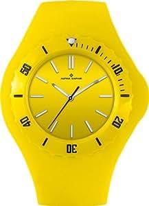 Alpha Saphir Damen-Uhren Quarz Analog 345I, 38 mm gelb