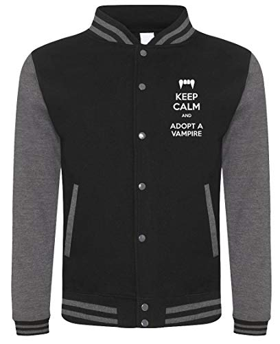 Fashwork felpa college keep calm and adopta a vampire - compleanno - idea regalo - in cotone