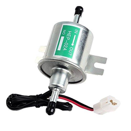 Senhai 2015 New Universal-12V 1.2A Heavy Duty Elektro Silber Gas Diesel Fuel Pump Metall Intank Solide Zapfsäulen HEP-02A Set für Toyota / Ford / BMW / Honda / Mazda / Benz / Chery / Nissan. (Reifen-gas-pumpe)