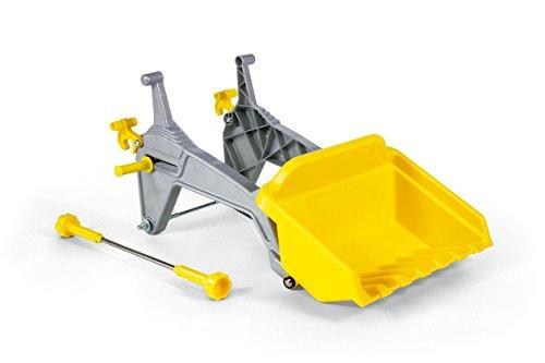 Rolly Toys 409310 rollyKid Lader | Frontlader 61 cm | Räumschaufel passend für Trettraktor rollyKiddy und rollyKid | ab 2,5 bis 5 Jahren | Farbe silber/gelb