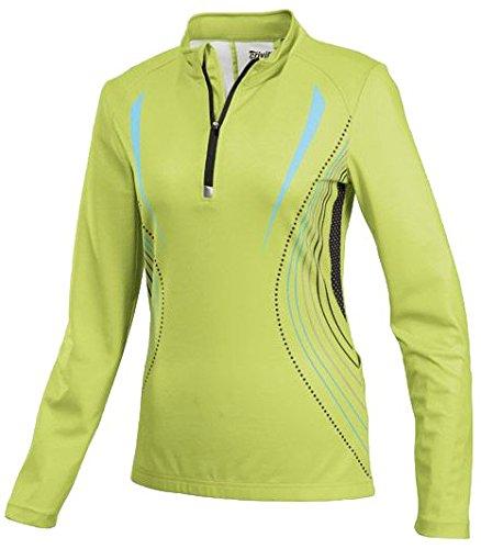 CRIVIT® Damen Fahrrad-T-Shirt, langarm (Gr. S 36/38, grün/türkis/schwarz)