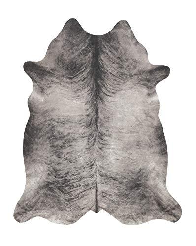 andiamo Kuhfell Teppich Amarillo aus Kunstfell Fellimitat im Fotodruck - grau-schwarz, 125x155 cm