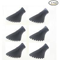 crestgolf Pack de 6unidades/3pares de Nordic Walking asfalto almohadillas para bastones de trekking de goma para asfalto y piedra