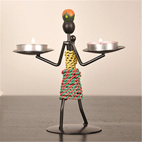 Youxd Crafts Vintage Europäischen Eisen Kerzenständer Metall Handarbeit Handwerk, Geeignet Für Wohnzimmer Küche Und Esszimmer Dekoration Dunkelbraun
