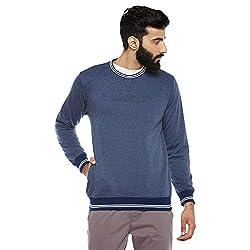 Duke Stardust Men Solid Sweatshirt L.Navy Mix Coloured XX-Large