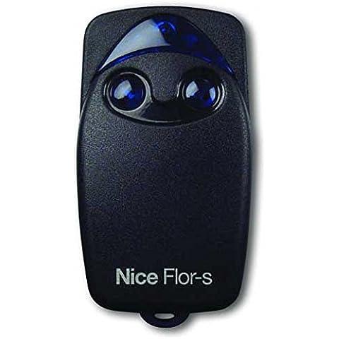 Nice Flo2R-S - Mando original para puertas automáticas, 2 botones, 433,92 MHz, rolling code