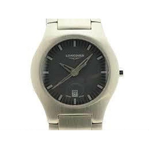 Longines Women Clock Quartz l35054786 (Rechargeable) quandrante Grey Strap Stainless Steel