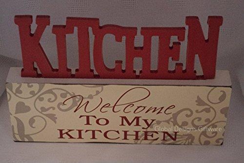Küche Block Plaque freistehend Welcome to My Küche Dekoration Geburtstag Geschenk sg1611