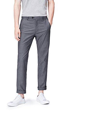 FIND Pantalón Slim de Corte Clásico para Hombre, Azul (Navy), W34/L32