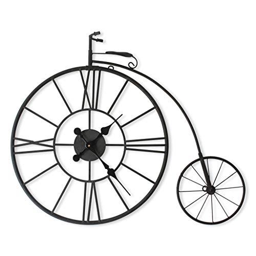 Reloj de pared retro europeo Reloj de pared Creativo Bicicleta Arte de hierro Silencioso Vintage Reloj tridimensional Sala de estar Café Decoración de pared Reloj 丨 Sin segunda mano 丨 Estilo industri