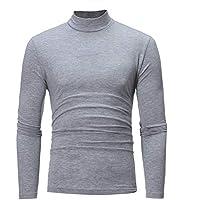 Juliyues Herren Turtleneck Sweatshirt,Männer Langarmshirt Rollkragenshirt Rollkragenpullover Hemden Slim Fit Top Bluse