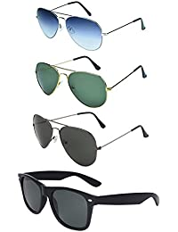 Zyaden COMBO Of 3 Aviator Sunglasses & 1 Wayfarer Sunglasses(Combo-359)