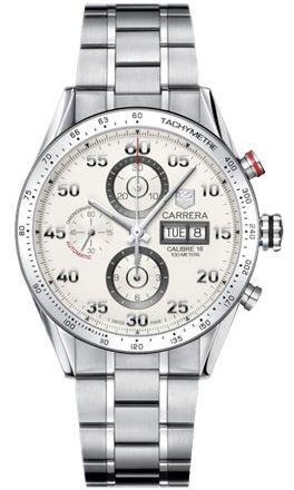 TAG Heuer CV2A11.BA0796 - Orologio da polso, acciaio inox, colore: grigio
