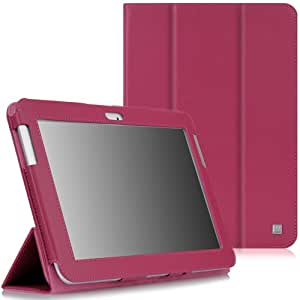 CaseCrown Bold Trifold Case (Hot Pink) for Samsung Galaxy Note 10.1 (2012 Edition); NOT compatible with Galaxy Note 10.1 (2014 Edition)