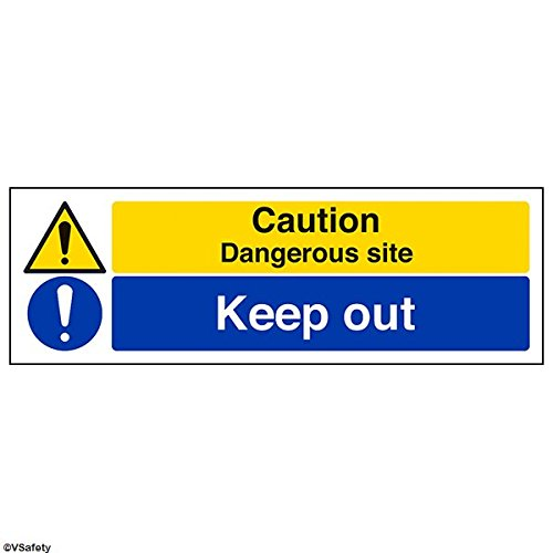 vsafety-signs-67139ax-s-caution-dangerous-site-keep-out-warning-building-sign-self-adhesive-landscap