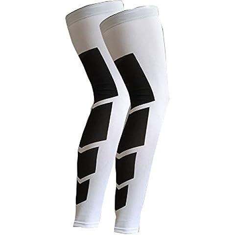 Leg vitello ginocchio a compressione Shin Splint Brace energia Band dolore Artrite Sollievo per corsa, (Footless Stretch Calze)