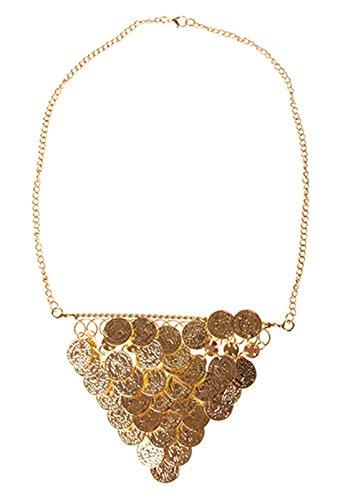 erdbeerclown - Kette Münzen- orientalischer Kostüm Schmuck Collier Orient Bauchtanz Harem Cleopatra goldglänzend, Gold (Bella Bauchtanz Kostüme)