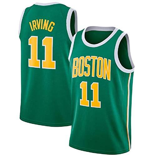 AKCHIUY T-Shirt Für Männer, NBA Boston Celtics 11# Kyrie Irving Sternspieler, Cooles, ärmelloses, Klassisches, Atmungsaktives Material, Basketball-Shirt,Green-M -