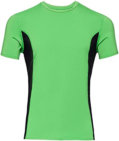 FIND Men's Cooling Sports Top, Green (Apple Green/Black),