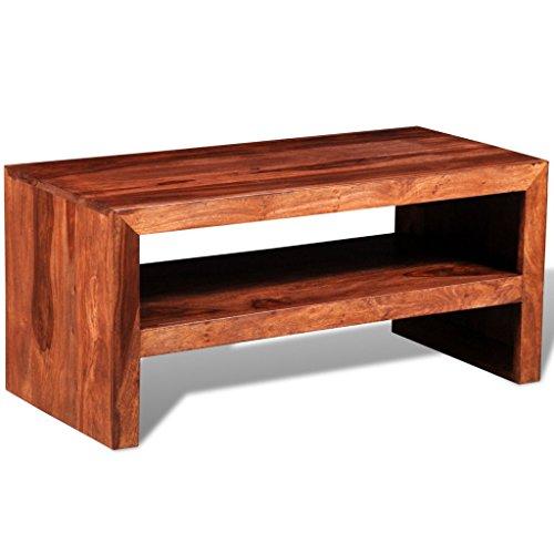 vidaXL Tavolino porta TV in legno massello