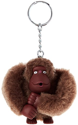 Kipling Monkeyclip M(10) - Portachiavi ad anello e catena Unisex Adulto, Marrone (True Beige), 5x10x15 cm (W x H x L)