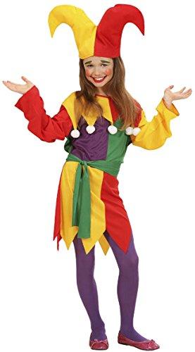 Jolly Kostüme (Kinder Kostüm Jolly Jester Medium 8–10Jahre (140) für Clown)