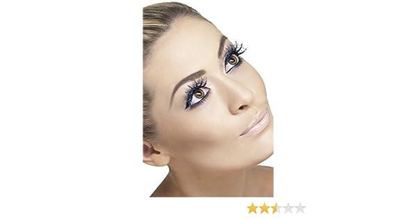 7b0ab05d586 Ladies Glittery Black & Blue Spiderweb Halloween False Fake Eyelashes Lashes  Hen Do Fancy Dress: Amazon.co.uk: Clothing