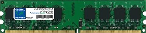 2Go DDR2 533MHz PC2-4200 240-PIN DIMM MÉMOIRE RAM POUR ORDINATEURS DE BUREAU/CARTES MERES