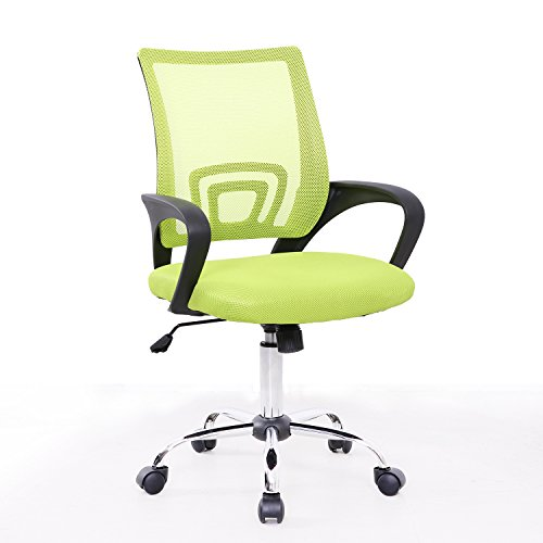 SVITA Kinder Schreibtischstuhl Bürostuhl Netzbezug Drehstuhl Stuhl Schreibtisch Schwarz (Grün)