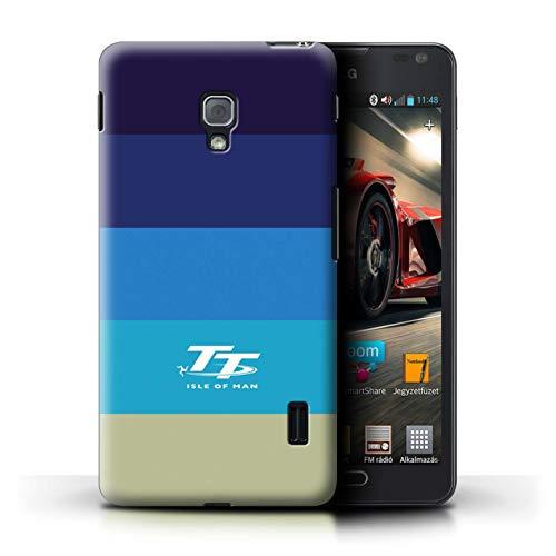 Isle of Man TT Offiziell Hülle/Case für LG Optimus F6 / Retro Muster/Eleganz Kollektion (Lg F6 Handy Case)