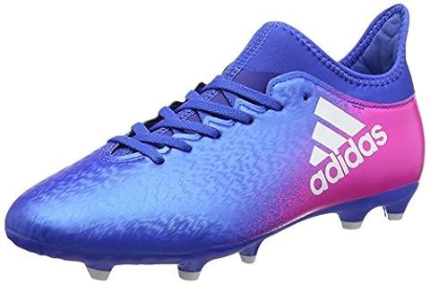 adidas Unisex-Kinder X 16.3 FG Fußballschuhe, Blau (Blue/Ftwr White/Shock Pink), 33 EU