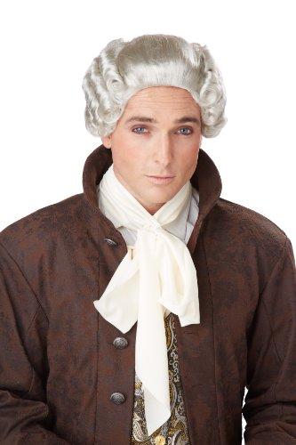 18th Century Grey Peruke Wig Adult by California Costume