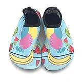 Le scarpe da acqua rapida asciugatura del bambino bambini acqua scarpe di nuotare scarpe Aqua calzini per ragazze dei ragazzi più piccoli a piedi nudi morbida per piscina mare (banana