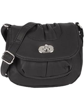 NEW BAGS Schultertasche Abendtasche Umhängetasche Überschlagtasche S mit Drehverschluss NB3039 Kunstleder 18cmx16cmx5cm...