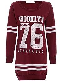 Neuen Frauen 76 Brooklyn Winter-Athletisch Langarm Pullover Tops 36-50