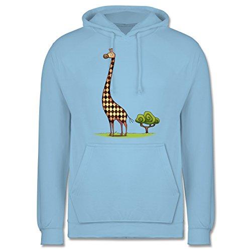 Wildnis - Lange Giraffe - Herren Hoodie Hellblau