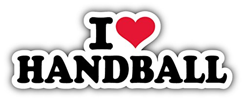 I Love Handball Slogan Hochwertigen Auto-Autoaufkleber 15 x 5 cm