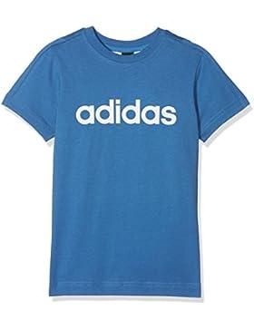 adidas Yb Lin tee Camiseta, Niños, Azul/Blanco, 140 (9/10 años)