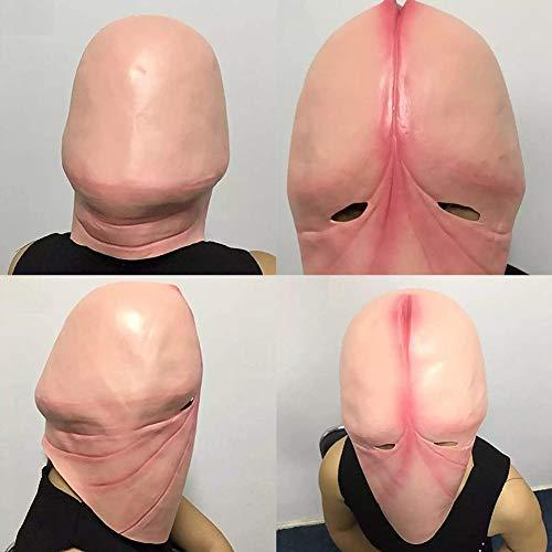 LEUM SHOP Lustige Latex Kopf Maske Halloween Streich Scherz 3D Penis Dick Party Cosplay (Bilder Von Werwölfen Kostüm)