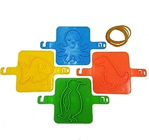 Juego de juguetes para niños con estampado de estampado de arena para niños - Moldes cinéticos para playa con estampado de animales para niños - Artesanías de arenero o arcilla, Juguetes para niños
