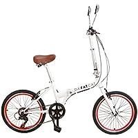 DaFatCat Bicicleta Plegable de Diseño Kickass 80s, 6 velocidades Shimano,