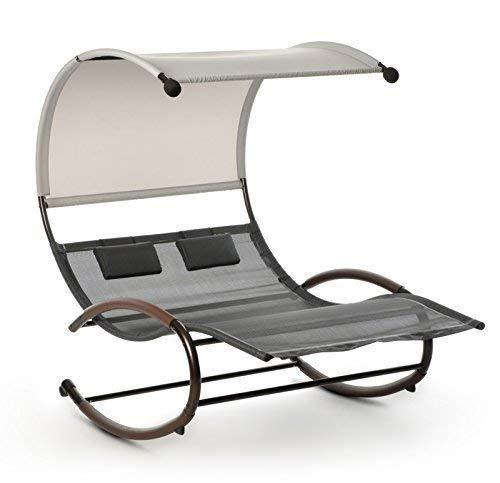 Design Schaukelliege Sonnenliege Garten Liege Relaxliege Lounge Doppelliege Bett Sonneninsel