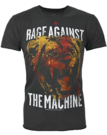 Amplified Rage Against The Machine Mens Charcoal T-Shirt-XXLarge
