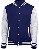 KIDS VARSITY COLLEGE JACKET (Oxford Navy/Heather Grey) By 123t