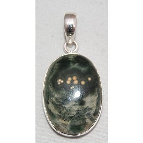 Gifts and Guidance Argent Sterling Orbiculaire Jasper Bijoux Pendentif No.3147
