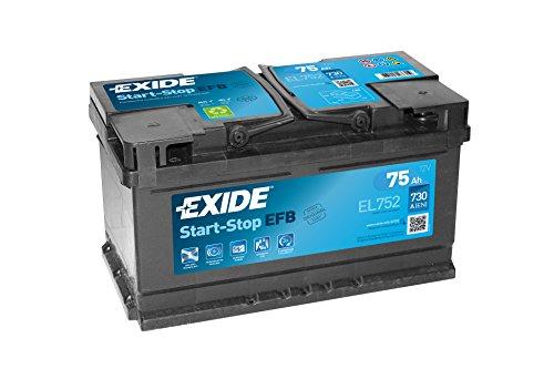 Exide 110EFB batteria di auto 75AH el752